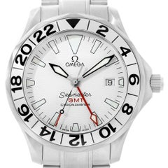 Omega Seamaster GMT Great White Wave Dial Watch 2538.20.00
