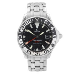 Omega Seamaster GMT Steel Black Dial Automatic Mens Watch 2534.50.00