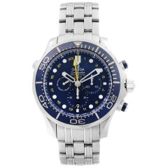 Omega Seamaster GMT Steel Blue Dial Automatic Men's Watch 212.30.44.52.03.001