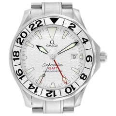Omega Seamaster GMT White Wave Dial Watch 2538.20.00 Card
