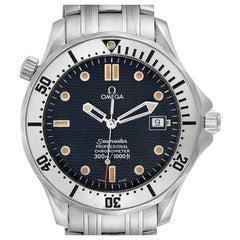 Omega Seamaster James Bond Blue Dial Steel Watch 2532.80.00 Card