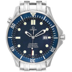 Omega Seamaster James Bond Blue Dial Steel Watch 2541.80