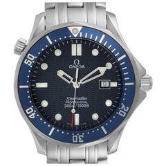 Omega Seamaster James Bond Blue Dial Steel Watch 2541.80.00 Card