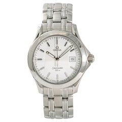 Omega Seamaster Men's Quartz Watch White Dial Stainless Steel