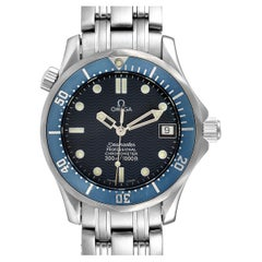Omega Seamaster Midsize Blue Dial Steel Mens Watch 2551.80.00