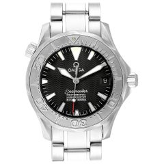 Omega Seamaster Midsize Black Wave Dial Steel Watch 2236.50.00