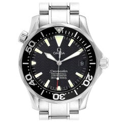 Omega Seamaster Midsize Black Wave Dial Steel Watch 2252.50.00