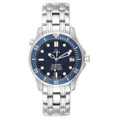 Omega Seamaster Midsize Blue Wave Dial Steel Watch 2551.80.00