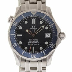 Omega Seamaster Midsize Steel Blue Wave Automatic 2 Year Warranty #598