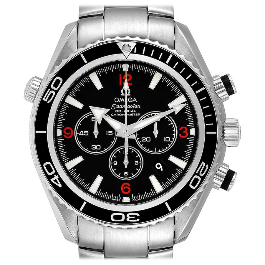 Omega Seamaster Planet Ocean Chronograph Men's Watch 2210.51.00 Box Card