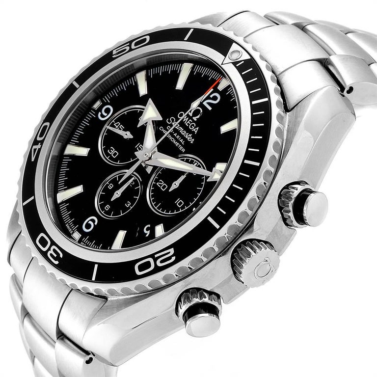 Omega Seamaster Planet Ocean Chronograph Watch 2210.50.00 Card For Sale 1