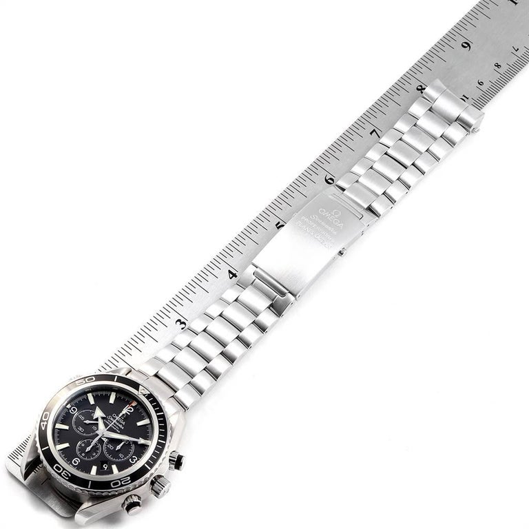 Omega Seamaster Planet Ocean Chronograph Watch 2210.50.00 Card For Sale 4