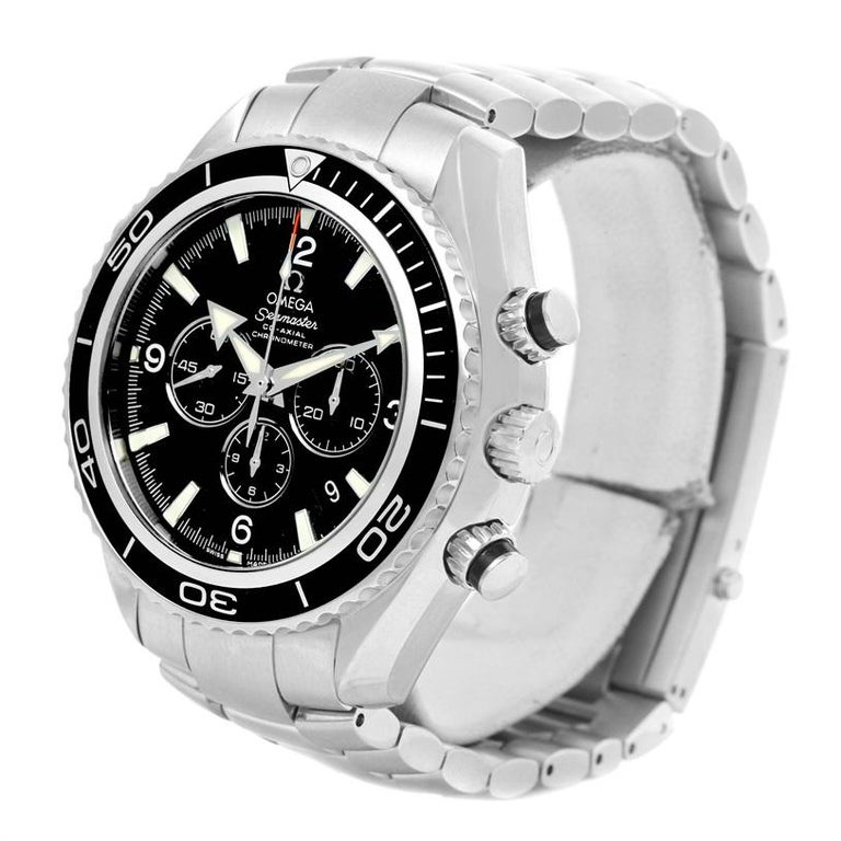 Omega Seamaster Planet Ocean Chronograph Watch 2210.50.00. Automatic self-winding chronograph - chronometer movement. Stainless steel round case 45.0 mm in diameter. Helium Escapement Valve at the 10 o'clock position. Scratch resistant sapphire