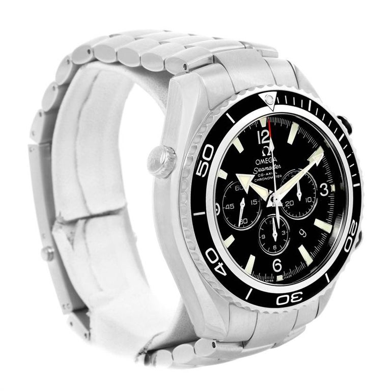 Omega Seamaster Planet Ocean Chronograph Watch 2210.50.00 For Sale 1