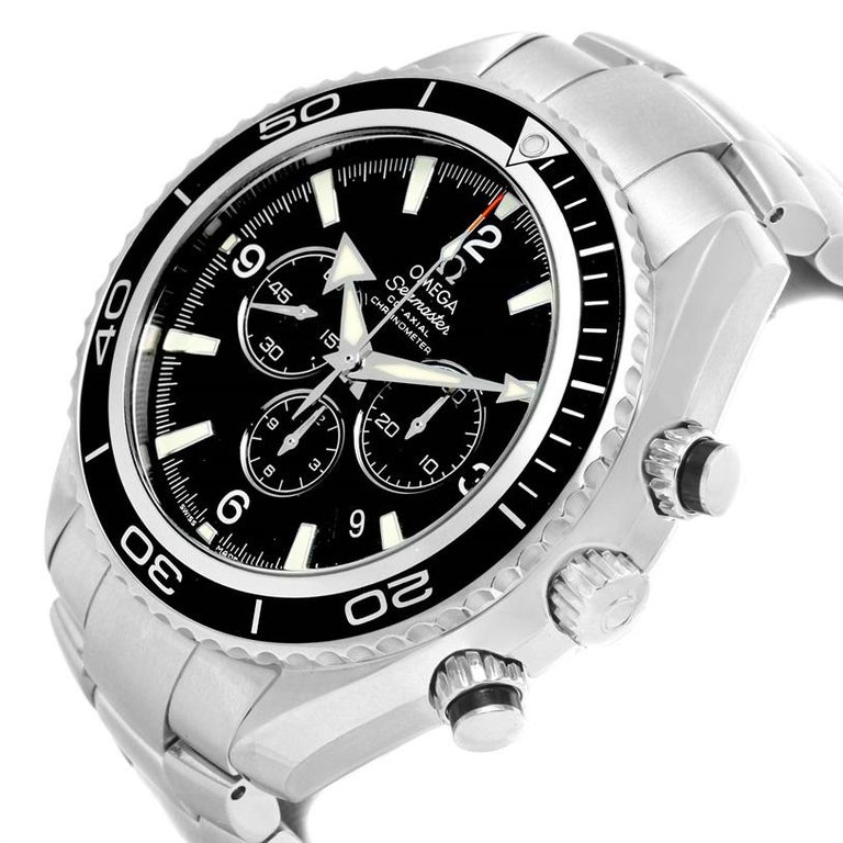 Omega Seamaster Planet Ocean Chronograph Watch 2210.50.00 For Sale 2