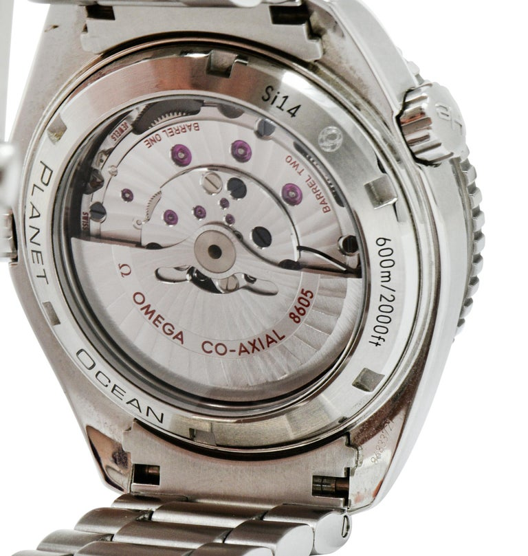 Omega Seamaster Planet Ocean Chronometer GMT Stainless Steel Men's Watch 5