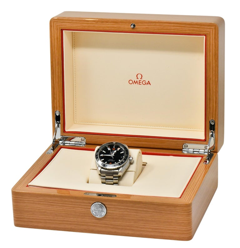 Omega Seamaster Planet Ocean Chronometer GMT Stainless Steel Men's Watch 7