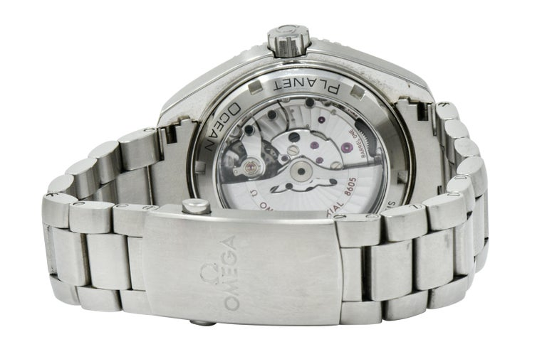 Women's or Men's Omega Seamaster Planet Ocean Chronometer GMT Stainless Steel Men's Watch
