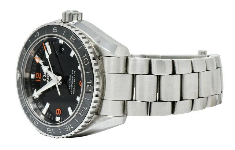 Omega Seamaster Planet Ocean Chronometer GMT Stainless Steel Men's Watch 2