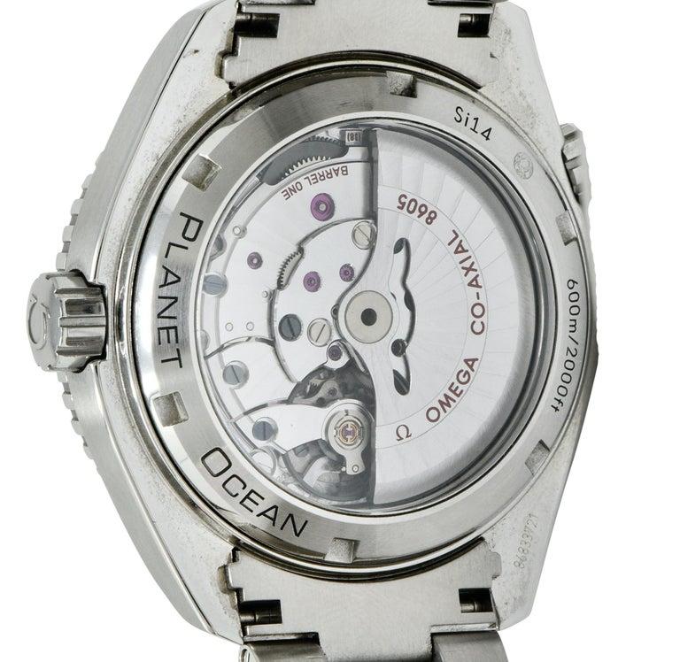 Omega Seamaster Planet Ocean Chronometer GMT Stainless Steel Men's Watch 3