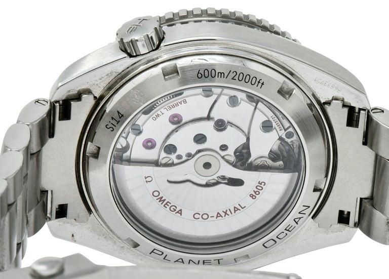 Omega Seamaster Planet Ocean Chronometer GMT Stainless Steel Men's Watch 4
