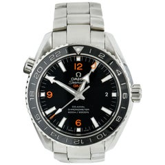 Omega Seamaster Planet Ocean Chronometer GMT Stainless Steel Men's Watch