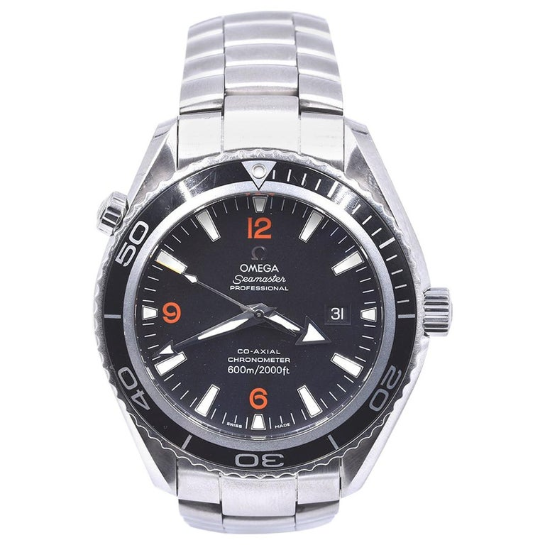 Omega Seamaster Planet Ocean Co-Axial Stainless-Steel Watch Ref. 22005100 For Sale