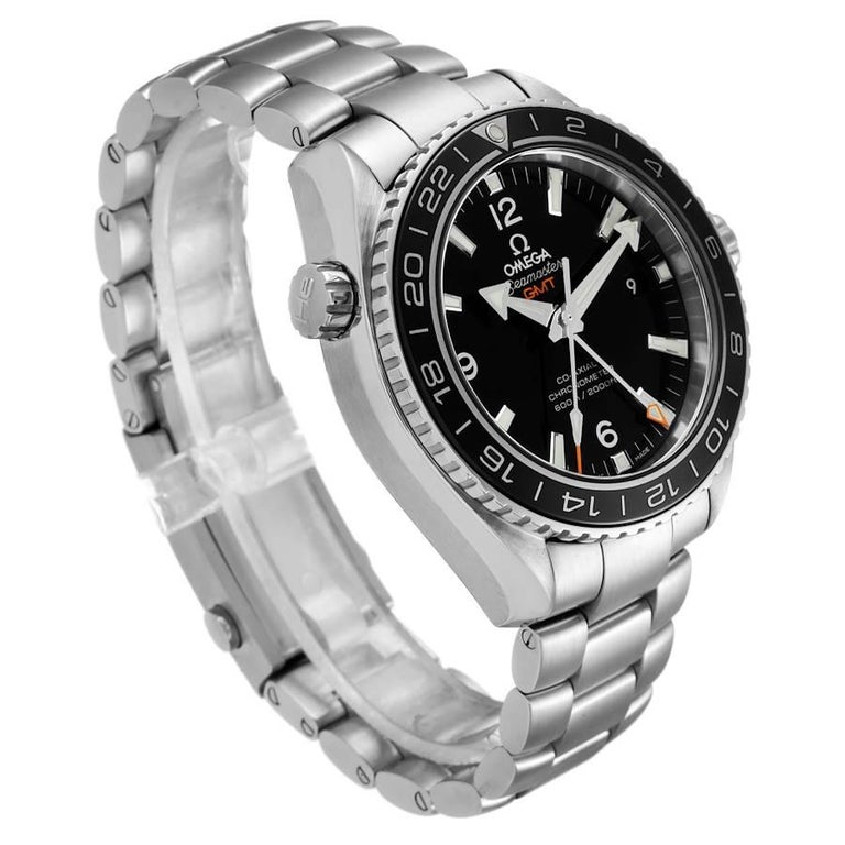 Omega Seamaster Planet Ocean GMT Watch 232.30.44.22.01.001 Box Card In Excellent Condition In Atlanta, GA