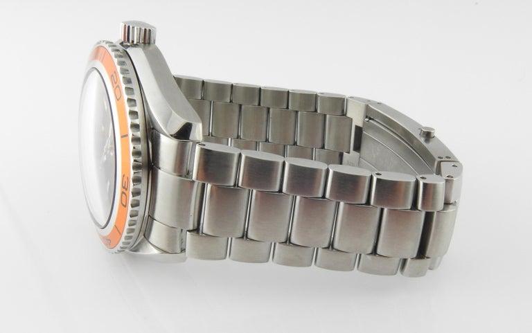 Omega Seamaster Planet Ocean Men's Watch Black Dial Orange Bezel Steel 1