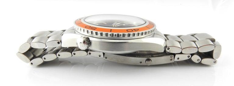 Omega Seamaster Planet Ocean Men's Watch Black Dial Orange Bezel Steel 4