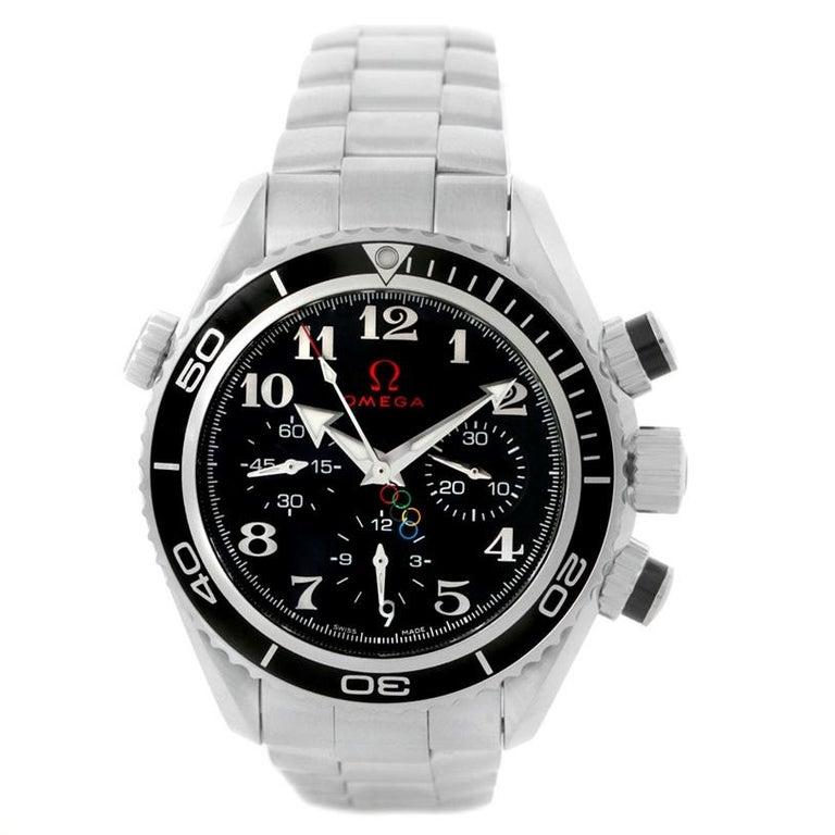 Omega Seamaster Planet Ocean Olympic 22230385001003 Watch Unworn For Sale 6