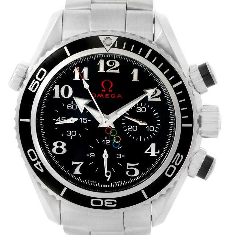 Omega Seamaster Planet Ocean Olympic 22230385001003 Watch Unworn For Sale 7