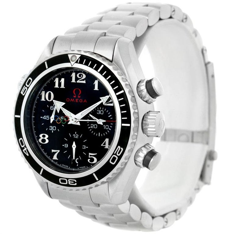 Omega Seamaster Planet Ocean Olympic 22230385001003 Watch Unworn In Excellent Condition For Sale In Atlanta, GA