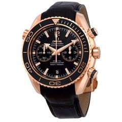 Omega Seamaster Planet Ocean Rose Gold Black Dial Mens Watch 232.63.46.51.01.001