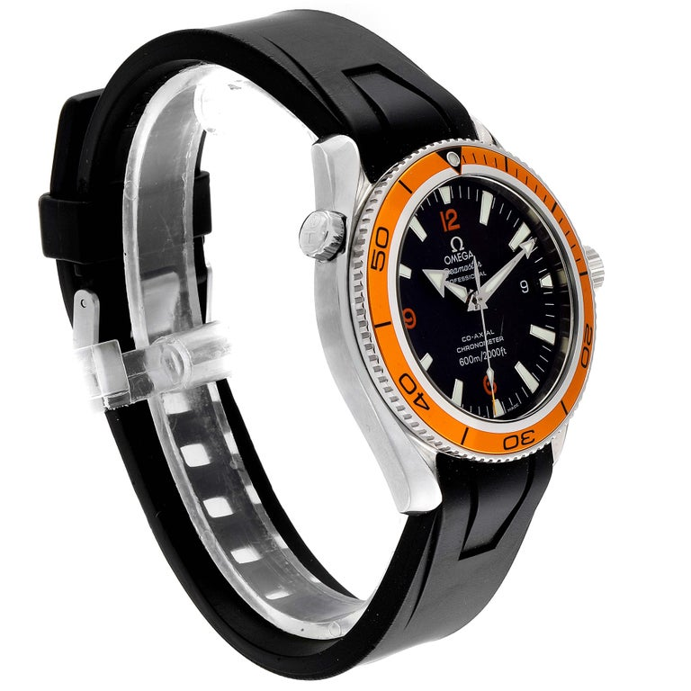 Omega Seamaster Planet Ocean Rubber Strap Men's Watch 2909.50.91 Box Card For Sale 1