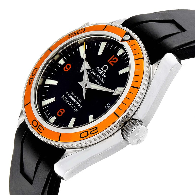 Omega Seamaster Planet Ocean Rubber Strap Men's Watch 2909.50.91 Box Card For Sale 2