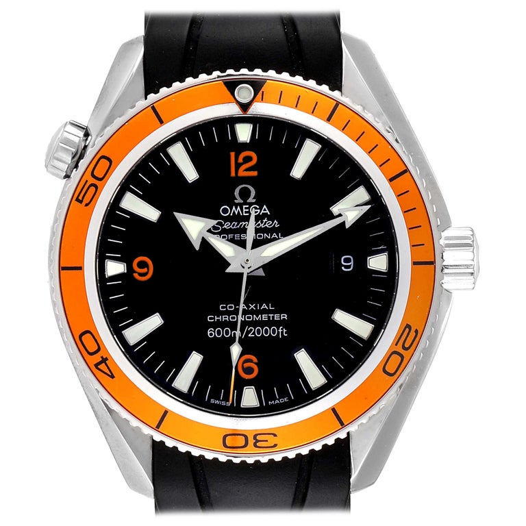 Omega Seamaster Planet Ocean Rubber Strap Men's Watch 2909.50.91 Box Card For Sale