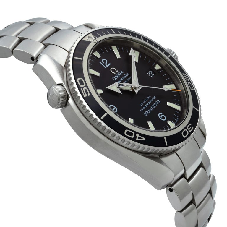 Men's Omega Seamaster Planet Ocean Steel Black Dial Automatic Men's Watch 2201.50.00 For Sale