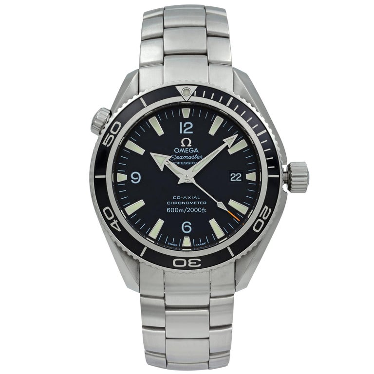 Omega Seamaster Planet Ocean Steel Black Dial Automatic Men's Watch 2201.50.00 For Sale