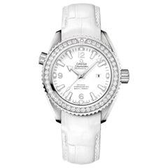 Omega Seamaster Planet Ocean Steel Diamond White Dial Watch 232.18.38.20.04.001