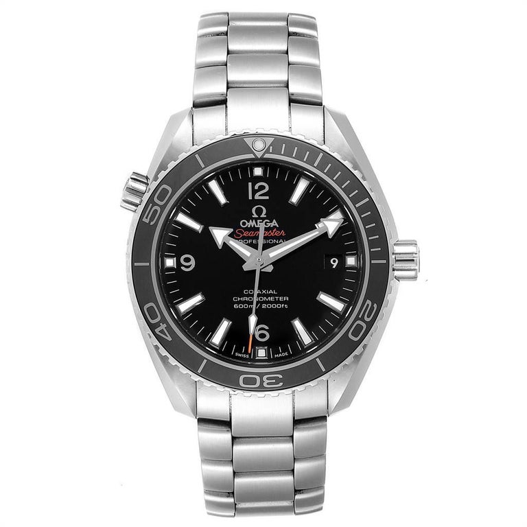 Omega Seamaster Planet Ocean Watch 232.30.42.21.01.001 Card. Automatic self-winding chronometer movement with Co-Axial Escapement for greater precision, stability and durability. Free sprung-balance, 2 barrels mounted in series, automatic winding in