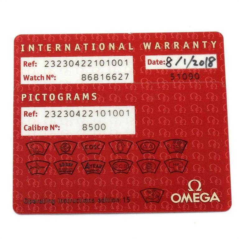 Omega Seamaster Planet Ocean Watch 232.30.42.21.01.001 Card 5