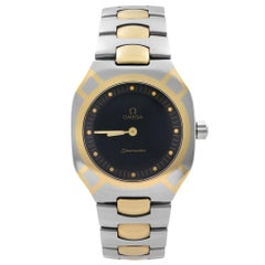 Omega Seamaster Polaris Two-Tone Steel Black Dial Men Quartz Watch DB 3860822