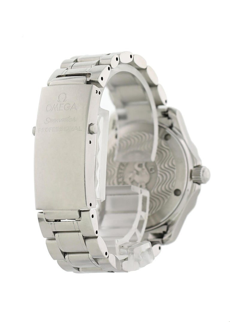 Men's Omega Seamaster professional 2262.50.00 Mid Size Watch Box Papers For Sale
