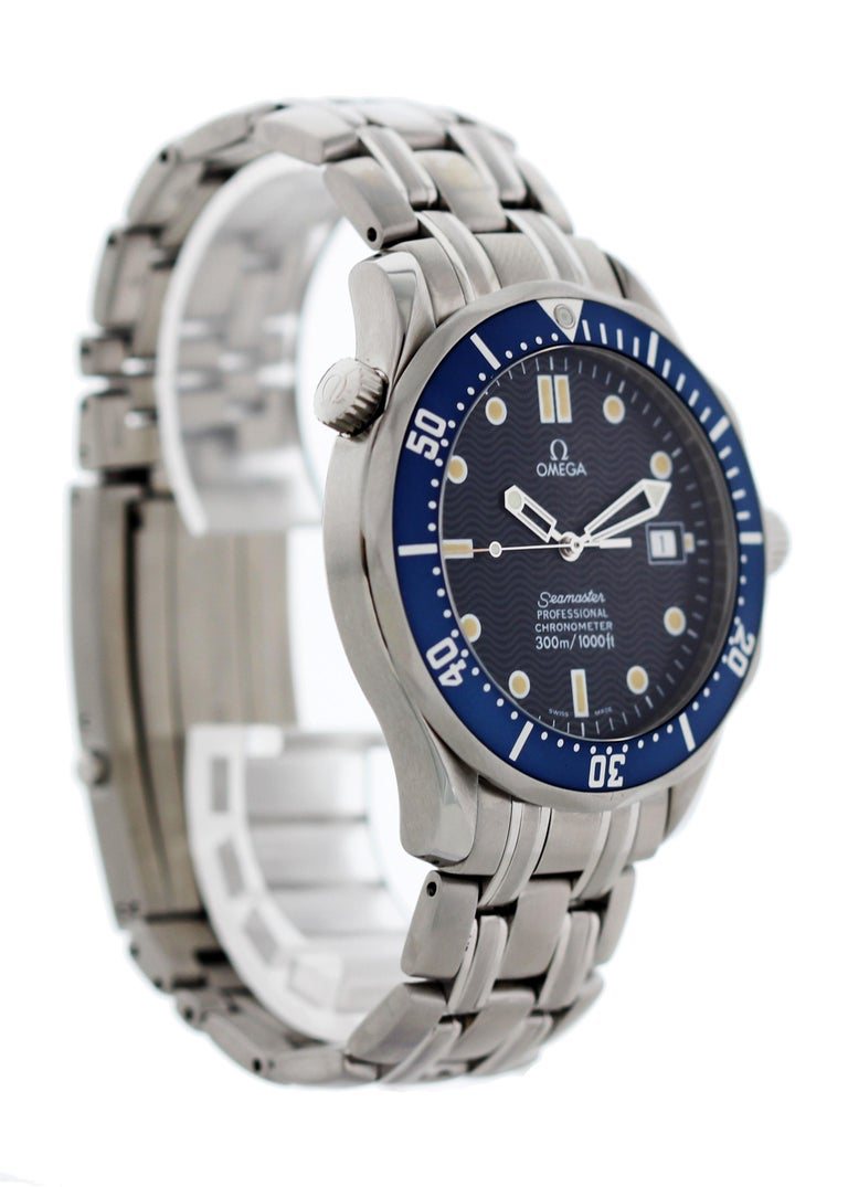 Omega Seamaster 300 M Chronometer  2531.80 Mens Watch. 41mm stainless steel case. Unidirectional blue bezel with luminous 60 minute marker. Blue dial with minute markers, luminous markers on hands and indexes. Date display at the 3 O'clock position