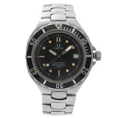 Omega Seamaster Professional Steel Black Dial Quartz Mens Watch 3961052