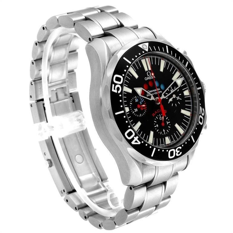 Omega Seamaster Regatta Racing Americas Cup Watch 2569.50.00 Box Card In Excellent Condition For Sale In Atlanta, GA