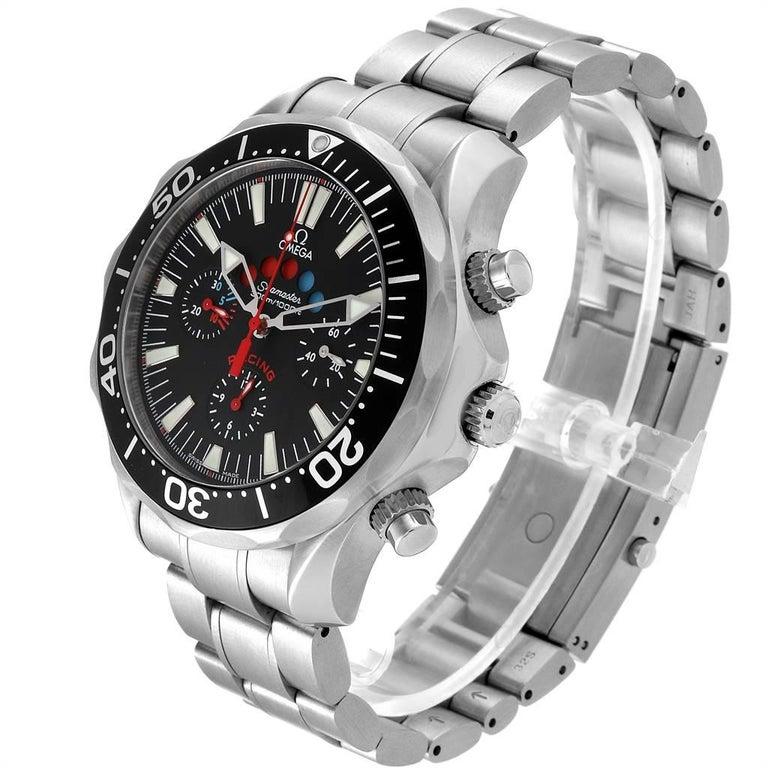 Men's Omega Seamaster Regatta Racing Americas Cup Watch 2569.50.00 Box Card For Sale