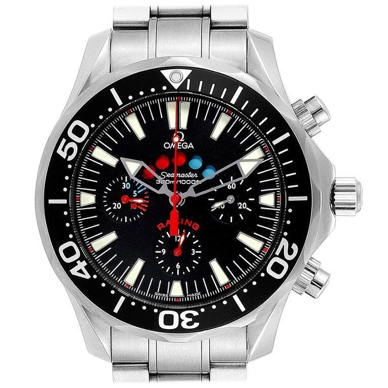 Omega Seamaster Regatta Racing Americas Cup Watch 2569.50.00 Box Card For Sale