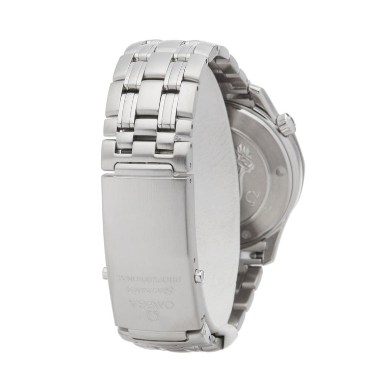 Men's Omega Seamaster Stainless Steel 21230416101001 Wristwatch For Sale